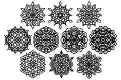 Snowflake SVG, Christmas Snowflakes, Snowflakes Laser Cut Product Image 2
