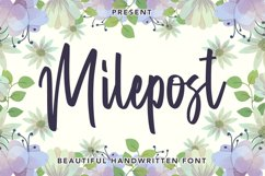 Milepost - Beautiful Handwritten Font Product Image 1