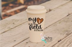 Football Mom SVG, My Heart is on the Field, Football Heart Product Image 3
