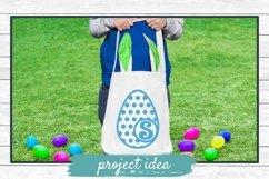 Easter Bunny and Egg Monogram Frame Bundle, SVG Cut Files Product Image 4