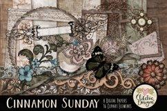 Digital Scrapbook Kit - Cinnamon Sunday Product Image 1