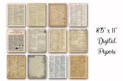 Dictionary Pages Digital Paper - 2 Sizes - 8.5x11 and 12x12 Product Image 3