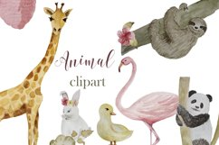 Animal watercolor digital clipart Product Image 1