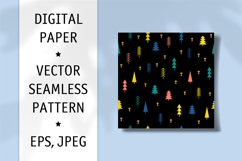 Fabric Seamless Pattern. Digiral Paper. Scrapbook Paper. Product Image 1