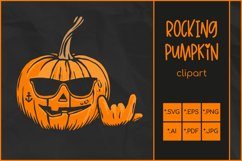 Halloween SVG, Rocking Pumpkin SVG, Jack O'Lantern Rocks Product Image 1
