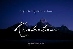 Krakatau Monoline Signature Font Product Image 1