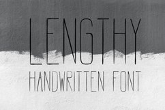 LENGTHY | All Caps Brush Font Product Image 1