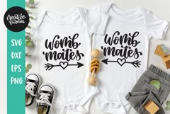 Womb Mates SVG, Twins SVG, Baby SVG Product Image 1