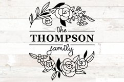 Family Monogram Name sign svg Floral Product Image 2