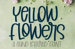 Yellow Flowers - A Hand Lettered Font Product Image 1