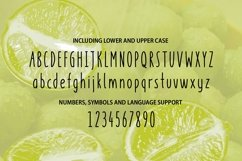 Key Lime - A fruity fresh drawn font Product Image 3
