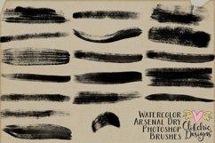 Photoshop Brushes - Watercolor Arsenal Dry Brushes Product Image 3
