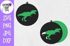 Dinosaur Earring SVG Template - Earring SVG - Dinosaur SVG Product Image 2