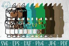 3D Thanksgiving Characters SVG, Papercut Turkey, Pilgrim DXF Product Image 2
