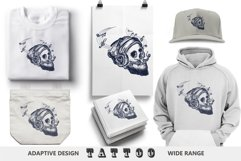Human skull tattoo Product Image 4