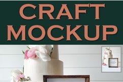 Mockup Wedding Cake Square Sign | JPEG Product Image 2