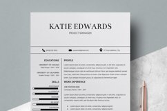 Resume | CV Template Cover Letter - Katie Edwards Product Image 3