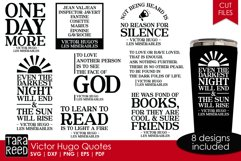 Victor Hugo Quotes from Les Miserables - SVG & Cut Files Product Image 1