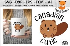 Canadian Cutie Beaver SVG Product Image 1