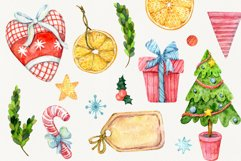 Magic Christmas. Watercolor cartoon cliparts Product Image 3
