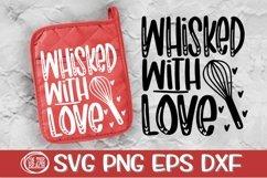 Whisked With Love - Pot Holder SVG-Valentine SVG PNG DXF EPS Product Image 1