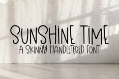 Web Font Sunshine Time - A Quirky Hand-Lettered Font Product Image 1