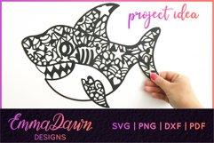 SAMMY THE SHARK SVG MANDALA / ZENTANGLE DESIGN Product Image 7
