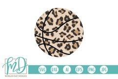 Basketball Mom - Biggest Fan - Leopard Basketball SVG Product Image 2
