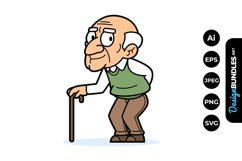 Old Man Clipart Product Image 1