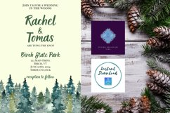Watercolor Wooded Forest Wedding Invitation Product Image 3