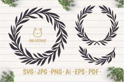Laurel Leaves SVG Bundle, Floral Decor Bundle, Wedding Decor Product Image 3