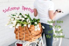 Spring Tulips Font - A Fun Hand Lettered Serif Font Product Image 5