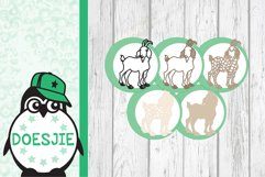 Goat farm animal 3d svg layered Multi layer mandala Product Image 10