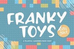 FRANKY TOYS Playful Handbrushed Font Product Image 1
