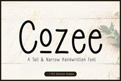 Skinny Doodle Font PLUS FREEBIES! | Cozee Product Image 1