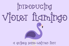 Web Font Violet Flamingo - A Quirky Hand-Written Font Product Image 1