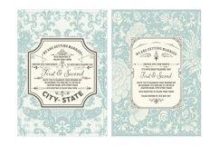 Vintage Wedding Invitation Product Image 2