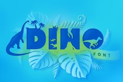 Dinosaur Font for Crafters with Cricut and Silhouette Product Image 1