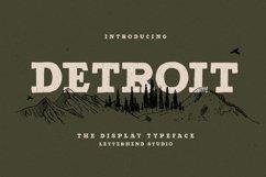 Detroit - Slab Serif Typeface Product Image 1