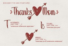 Thanks Mom - Modern Calligraphy Product Image 5