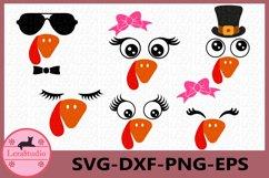 Turkey Face SVG, Turkey SVG, Turkey head svg, Eyes svg Product Image 1