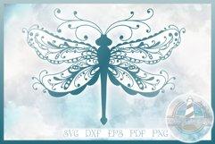 Beautiful Intricate Dragonfly Mandala Zentangle SVG Product Image 1