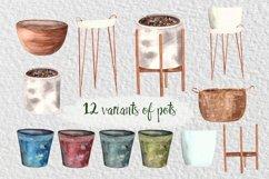 Watercolor Indoor Plants Clip Art Set Product Image 3