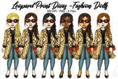 Leopard Print Divas Clipart, Fashion Girls Illustrations, PN Product Image 1