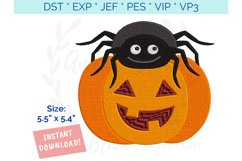 Spider Pumpkin Halloween Embroidery Design Product Image 2