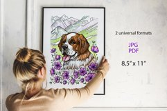 Saint Bernard coloring page Product Image 5