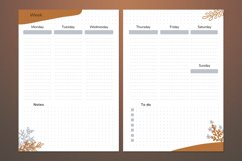 Undated weekly planner A5. Printable Monday week start Product Image 2