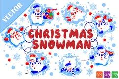 Christmas snowmen SVG Product Image 1
