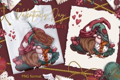 Valentine's Day. Gnomes. Cliparts Product Image 2