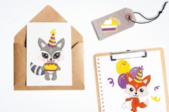 Woodland Birthday Graphics and illustrations, vecto Product Image 5